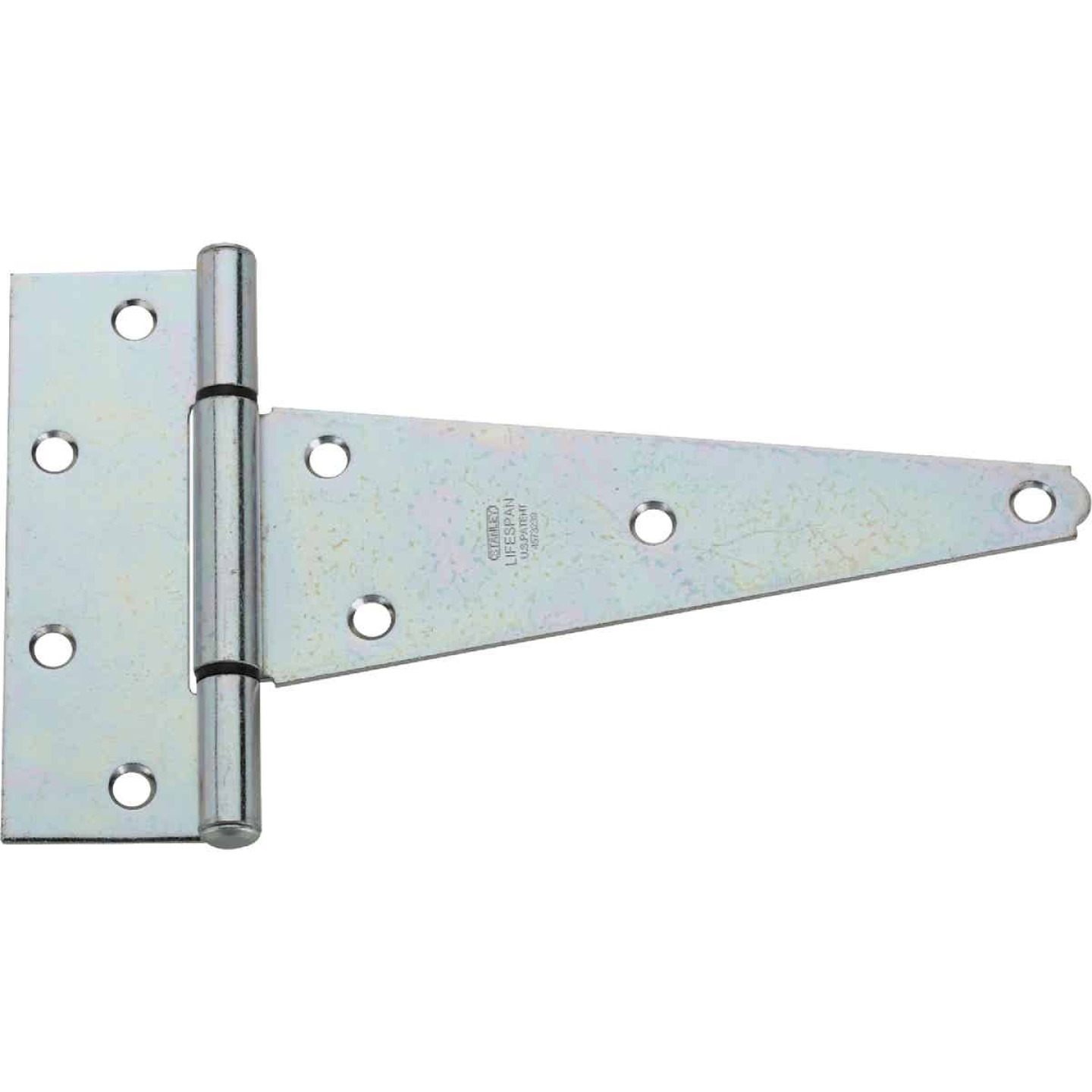 National 8 In. Zinc-Plated Steel Heavy-Duty Tee Hinge (2-Pack) Image 1