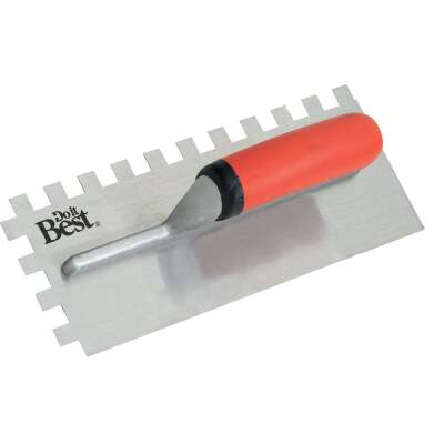 Do it Best 1/2 In. Square Notched Trowel