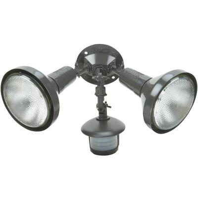 Bronze Motion Sensing Dusk To Dawn Incandescent Floodlight Fixture