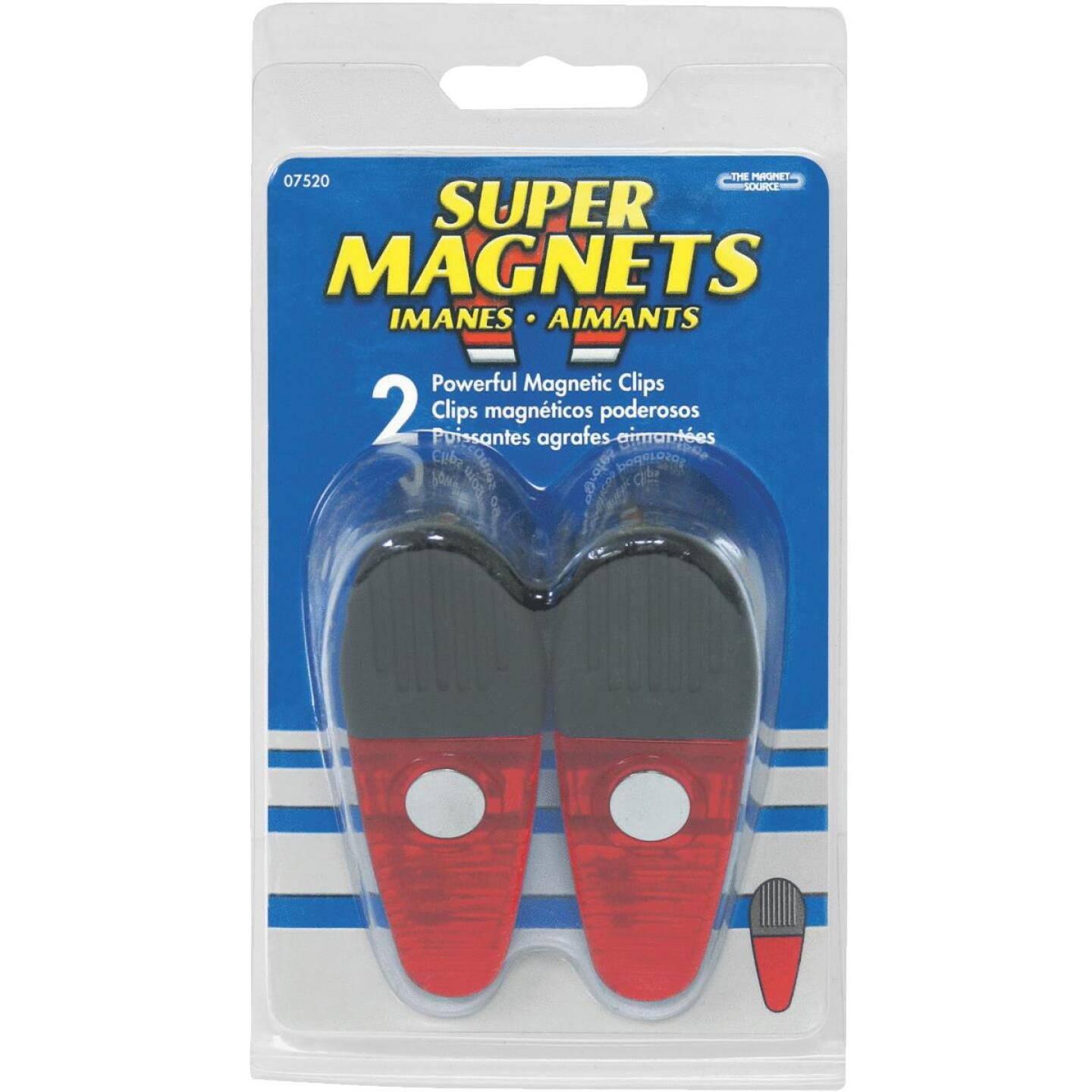 Master Magnetics 3-1/2 In. Red Magnetic Clip (2 Count) Image 2