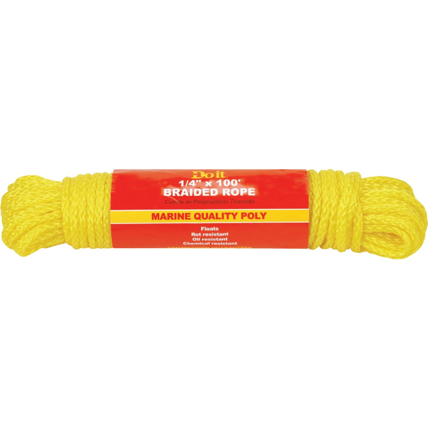 Do it 1/4 In. x 100 Ft. Yellow Braided Polypropylene Packaged Rope Image 1