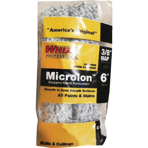 Whizz Microlon 6 In. x 3/8 In. Specialty Roller Cover (2-Pack)