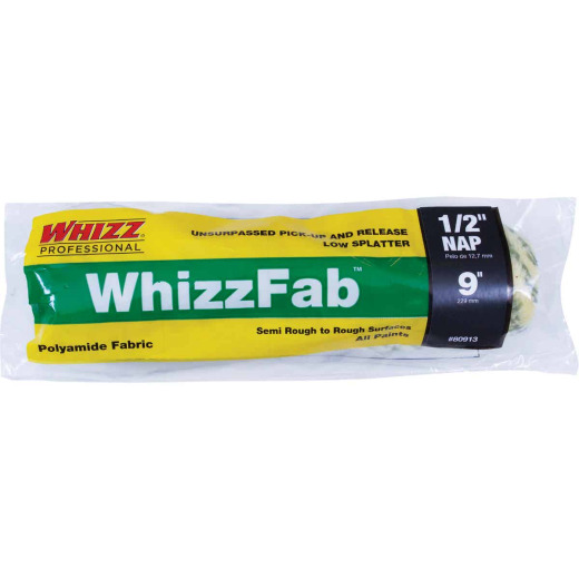 WhizzFab 9 In. x 1/2 In. Polyamide Fabric Cage Roller Cover